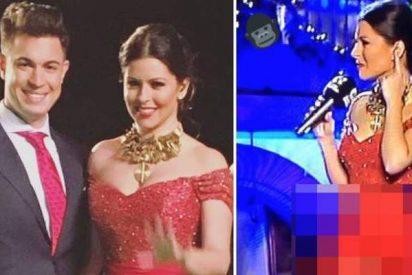 La presentadora canaria que iba sin bragas y enseñó más que Cristina Pedroche en las Campanadas 2016