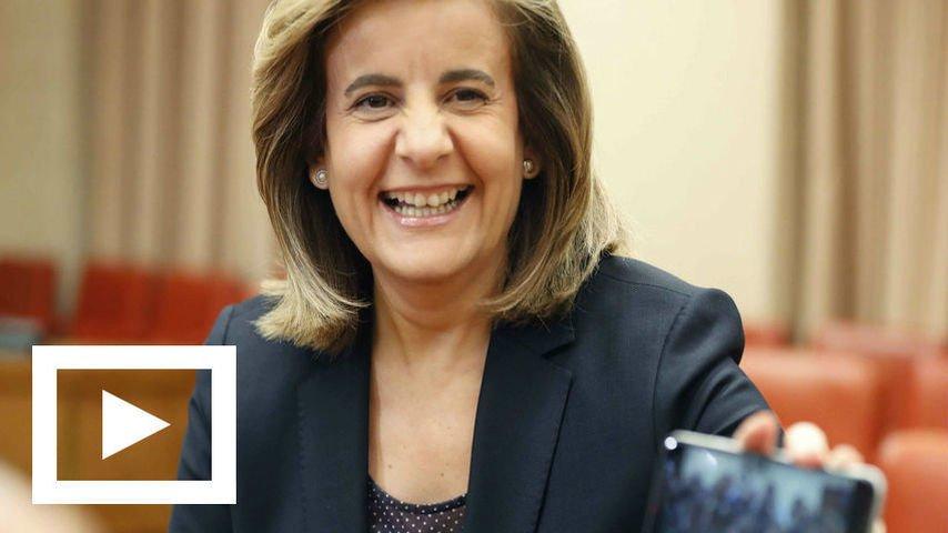 """Fátima Báñez: """"Financiar las pensiones con créditos o deuda pública es lo normal ante déficits puntuales"""""""