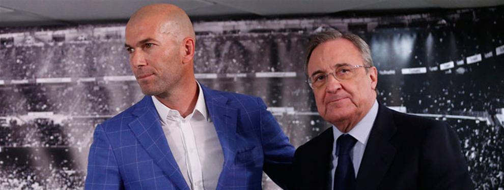 Florentino Pérez pide a Zidane que tape un bochorno en el vestuario del Madrid