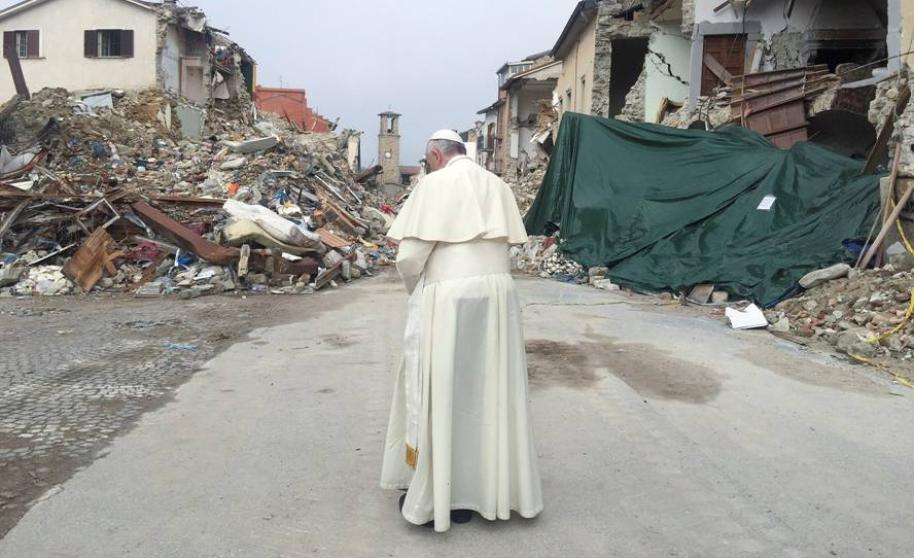 El Papa recibirá a 800 damnificados por el terremoto de Italia