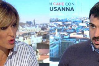 Solo cinco minutos tarda el más chulo de Podemos en montar una buena bronca con Susanna Griso