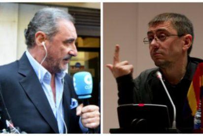 """Carlos Herrera crucifica a Monedero: """"Cretino, no necesitamos tu dinero, majadero"""""""