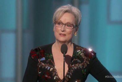 """""""La violencia llama a la violencia"""": el mensaje de Meryl Streep contra Donald Trump en los Globos de Oro"""