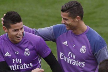 La charla más íntima entre James Rodríguez y Cristiano Ronaldo