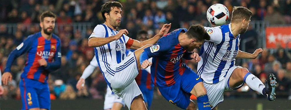 La 'violencia' no contada en el Barça-R.Sociedad (pelea Neymar-Vela aparte)