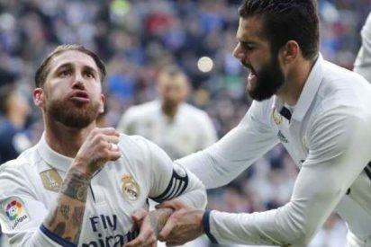 ¿A quién iba dirigido el gesto de Sergio Ramos que tuvo que frenar Nacho en la celebración del gol?