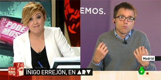 Cristina Pardo deja descolocado a Errejón con un tercer grado en toda regla