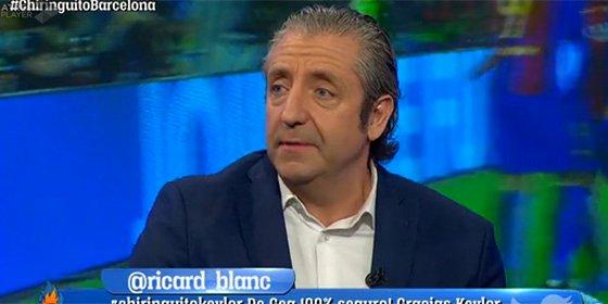 Josep Pedrerol sale corriendo del plató de 'El Chiringuito' y no vuelve