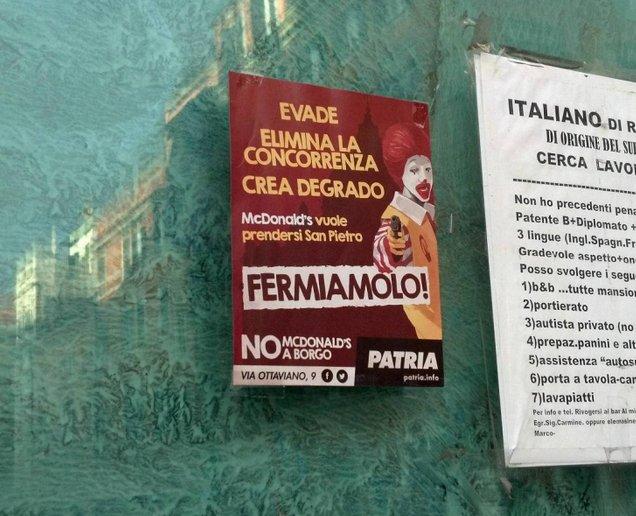 McDonald's abrió sus puertas en el Vaticano