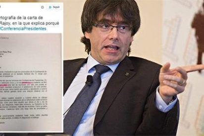 Puigdemont y el castellano: la carta que ha enviado a Mariano Rajoy es digna de un alumno de primaria