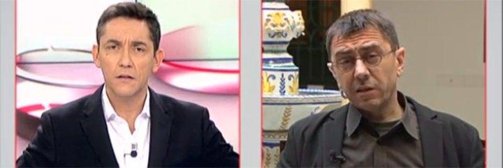 Monedero exige boicotear al ABC por el artículo de Burgos y se lleva el 'zasca' de Ruiz