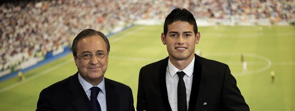 ¡Se va! Florentino Pérez aceptó una oferta para sacar del Madrid a James