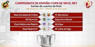 Ni derbi ni Clásico en los cuartos de final de la Copa del Rey