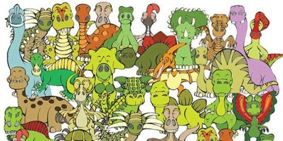 ¡Desafío! ¿Eres capaz de encontrar a la tortuga entre tantos dinosaurios?