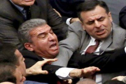 Las hostias en el Parlamento turco por la reforma constitucional que dará más poder a Erdogan
