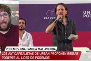'Cría a Urbán y te sacará los ojos': Iglesias le da protagonismo y el anticapitalista le quiere quitar la supremacía