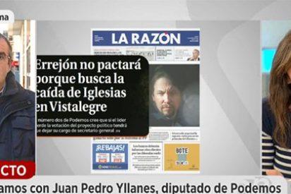 """La subdirectora de La Razón pone en su sitio al juez podemita Yllanes por cargar contra sus """"inflamables"""" portadas"""