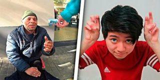 El indignante vídeo del cochino 'youtuber' que da galletas con pasta dental a un mendigo