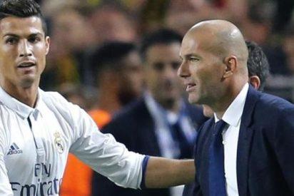 Zidane se apunta a los palos a Cristiano Ronaldo con un toque de atención