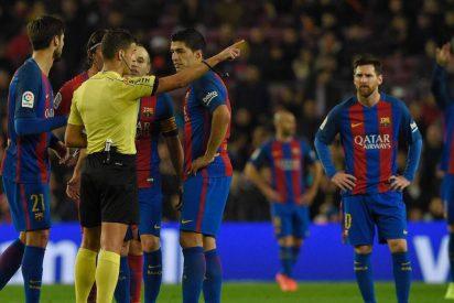 Competición sanciona con dos partidos a Luis Suárez y anula la amonestación a Busquets