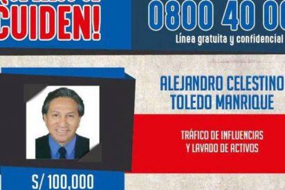 Perú ofrece 30.000 dólares por el paradero del expresidente Toledo por corrupto y ladrón