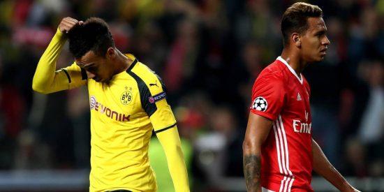Los alemanes se atascan en ataque y los portugueses lo aprovechan: Benfica 1 - Borussia Dortmund 0