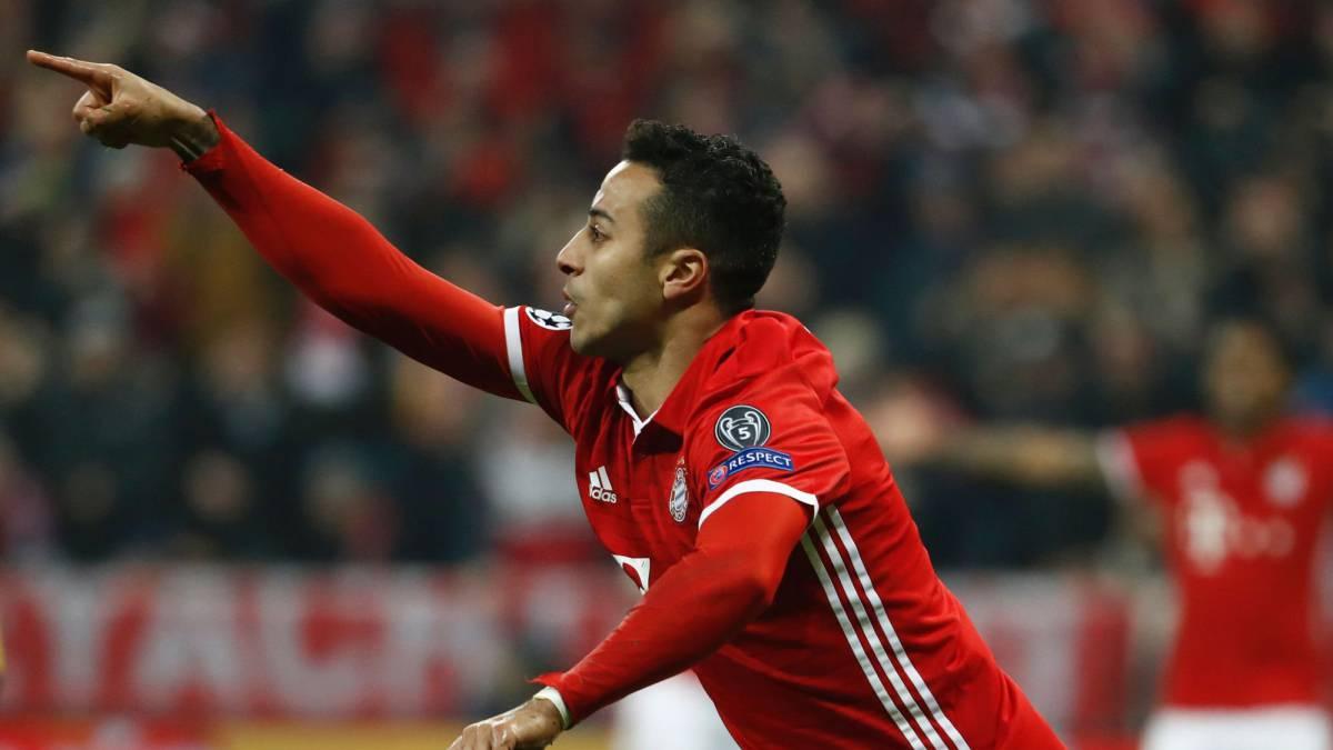 Thiago se doctora en una noche mágica: Bayern de Munich 5 - Arsenal 1