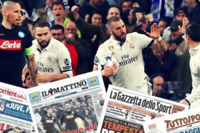 La prensa internacional pone al Real Madrid en cuartos, pero la italiana confía en un milagro del Nápoles