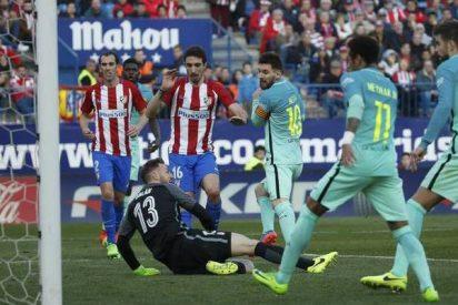 Messi engancha el Barça a la Liga: Atlético de Madrid 1 - FC Barcelona 2