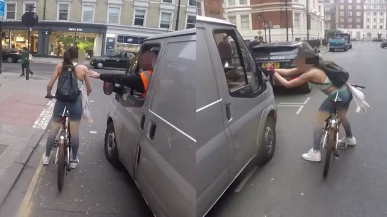 [VÍDEO] Así se venga esta mujer en bicicleta de las impertinencias del cochino conductor