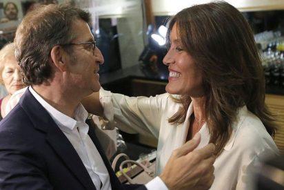 Alberto Núñez Feijoo y Eva Cárdenas, padres de su primer hijo