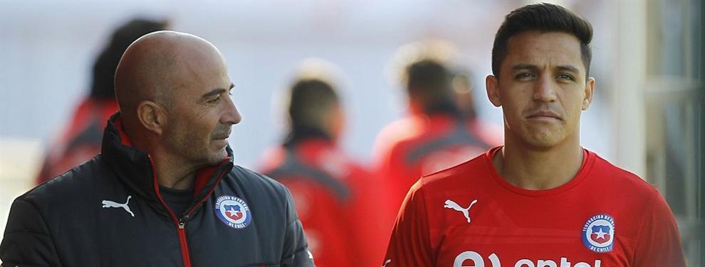 Alexis Sánchez en la agenda de Jorge Sampaoli para el Barça