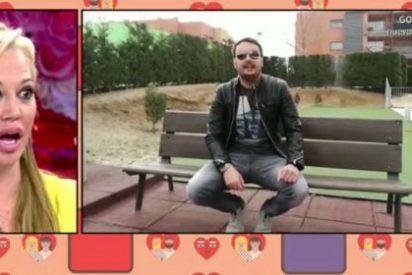 El 'Miguel' de Belén Esteban ya aparece en 'Sálvame' y la deja con el 'culo al aire'