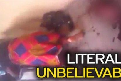 El increíble vídeo de la mujer que da a luz a una cabra tras dos años embarazada