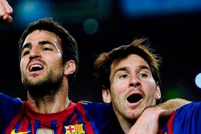 El Real Madrid (y Cristiano) se cuelan en la foto de Messi y Piqué con Cesc