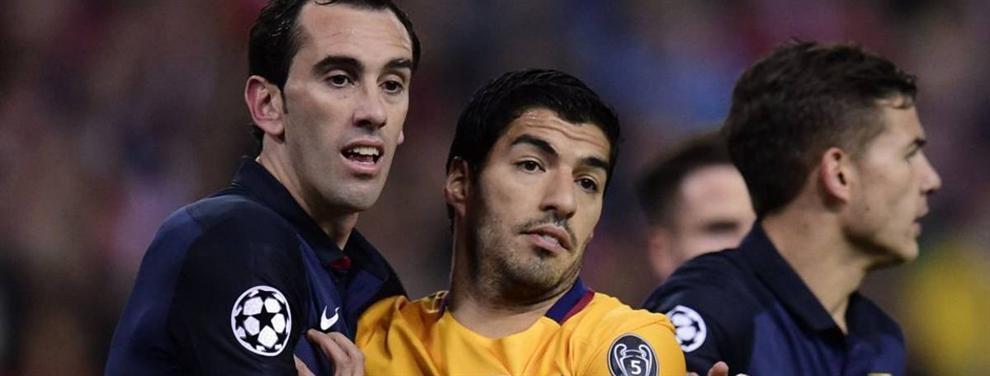 El ritual de Luis Suárez y Godín antes de cada Atlético-Barça