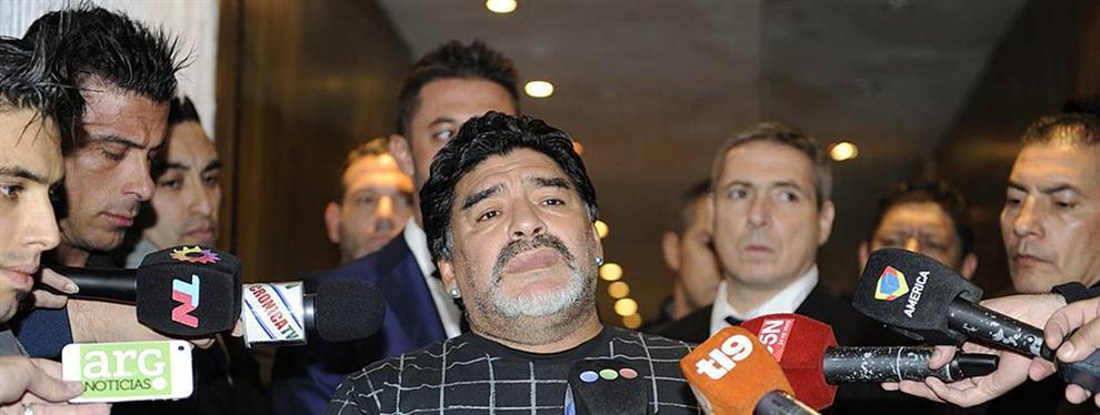 El vídeo que saca los colores a Maradona momentos antes del Madrid-Nápoles