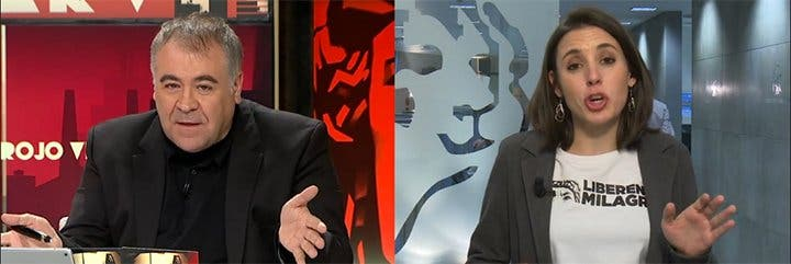"""La primera dama se pone chula con Ferreras: """"No enfanguéis las decisiones de Podemos"""""""