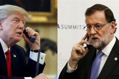 Mariano Rajoy se viene arriba con Trump