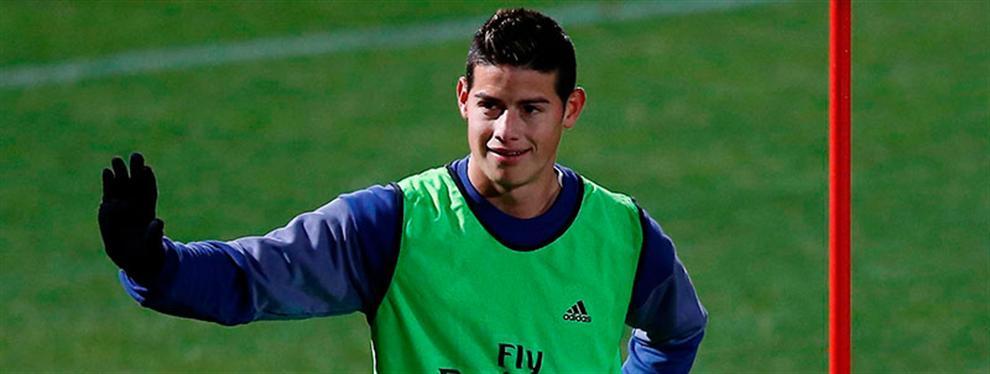 James mete en un problema a Zidane (y el vestuario se pone a mil por hora)