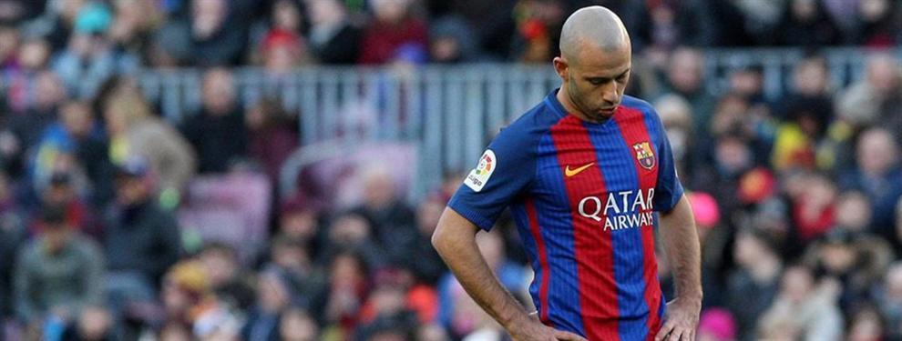 Javier Mascherano cava su propia tumba en el Barcelona
