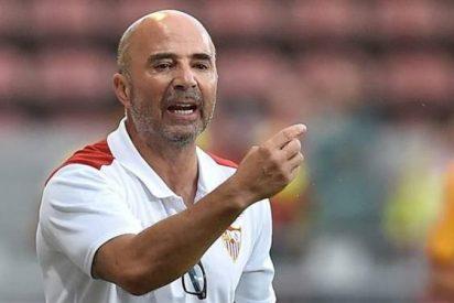 Jorge Sampaoli incendia Sevilla con un guiño al Barça