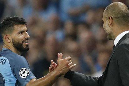 La doble cara de Pep Guardiola con el Kun Agüero