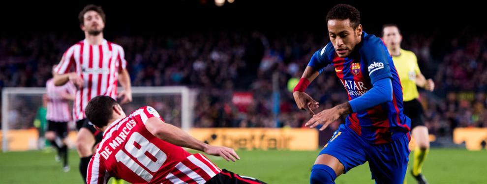 Luis Enrique fue a por Neymar al acabar el partido ante el Athletic Club