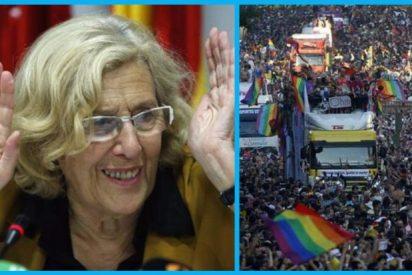 Carmena comparte aguja y ganchillo: ¡quiere que los madrileños cosan la bandera del Orgullo Gay!