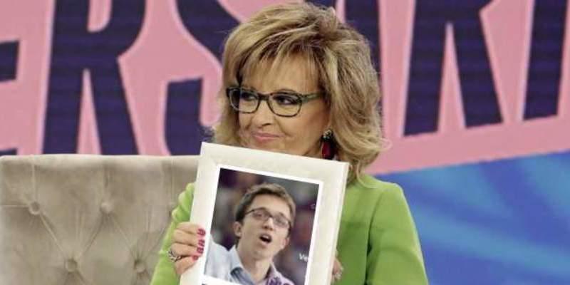 María Teresa Campos y Jorge Javier Vázquez confiesan en 'Sálvame' estar decepcionados con Podemos