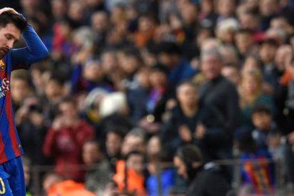 ¡Messi saca los colores a Cristiano Ronaldo en el banquillo del Barça!