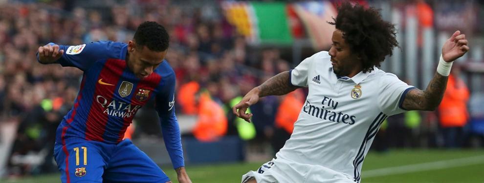 Neymar mete al madridista Marcelo en un lío tremendo