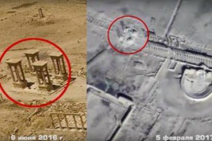 El drone ruso que graba la destrucción del teatro de Palmira a manos de DAESH