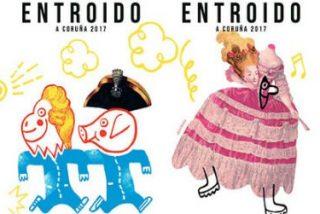 Polémica por el cartel del Carnaval de A Coruña que caricaturiza al Papa Francisco